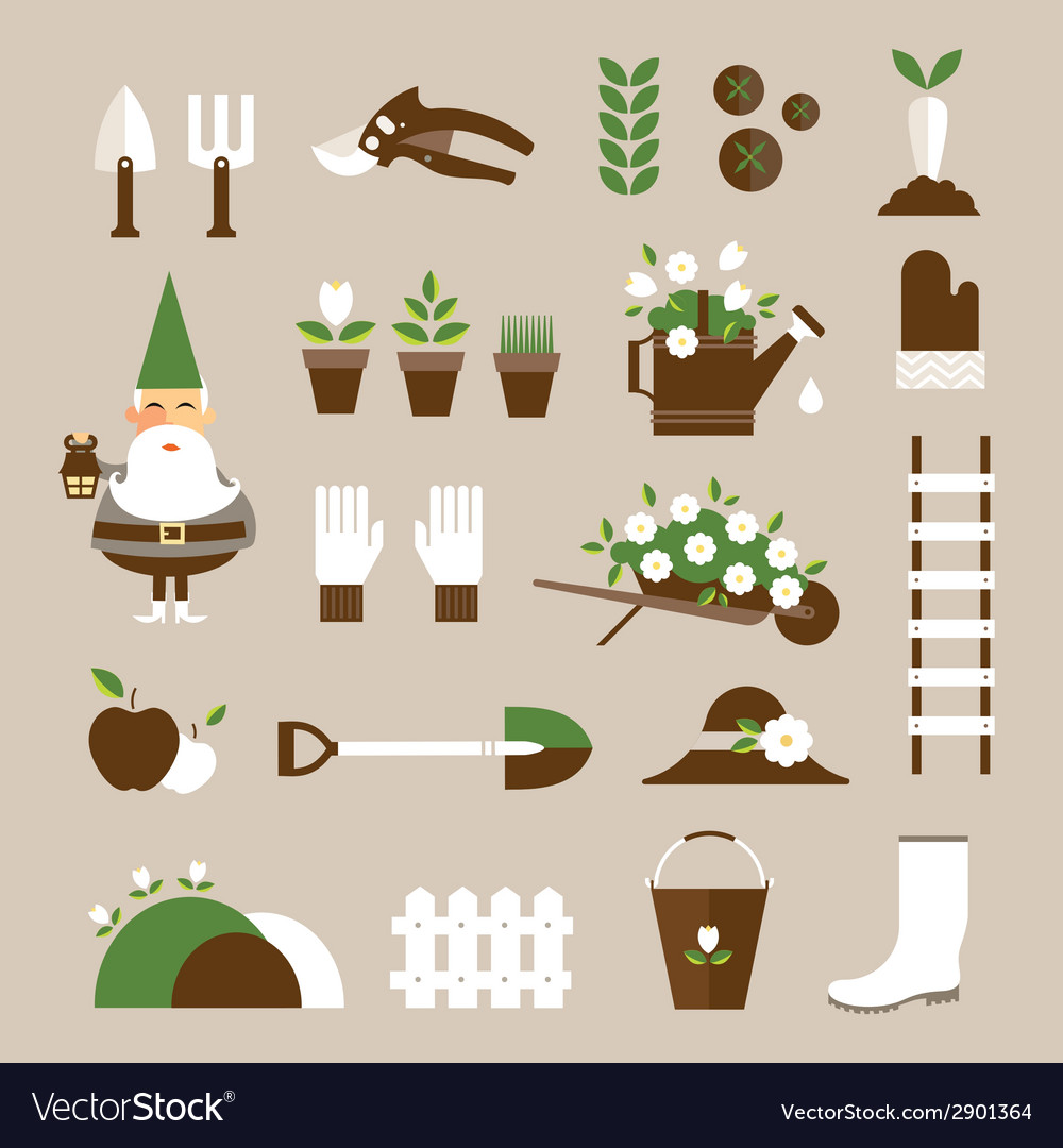 Garden icons vector | Price: 1 Credit (USD $1)