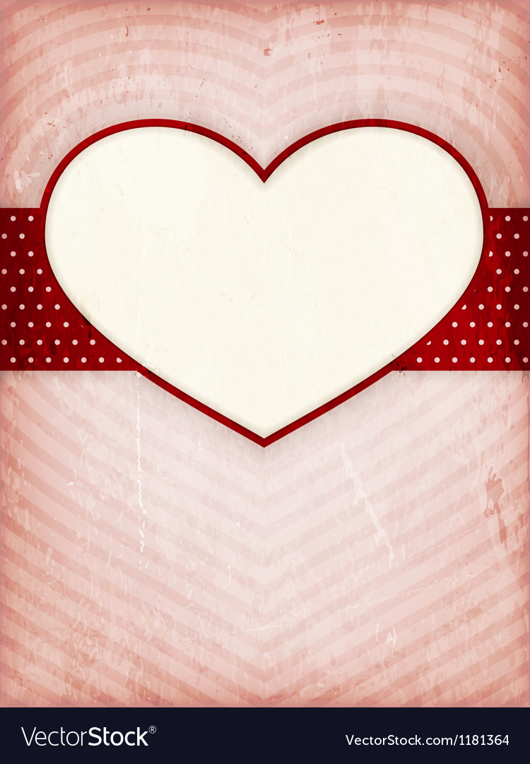 Heart frame on distressed background vector | Price: 1 Credit (USD $1)