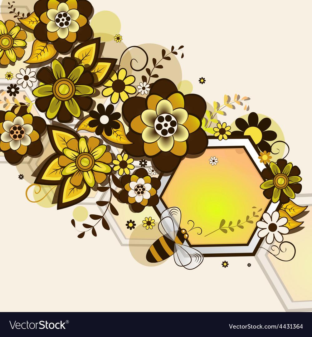 Honey comb vector | Price: 1 Credit (USD $1)