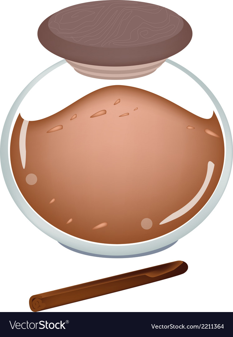 Jar of cinnamon powder on white background vector   Price: 1 Credit (USD $1)