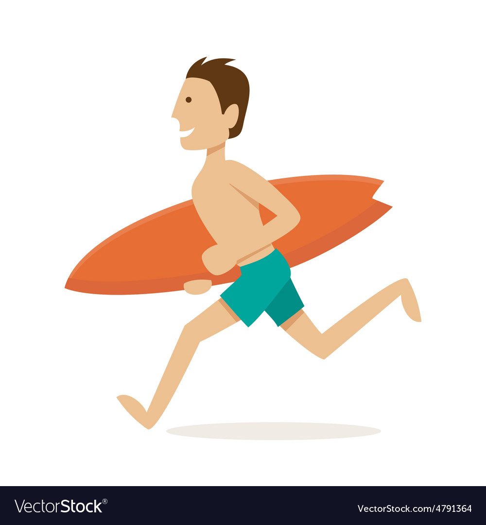 Male surfer vector