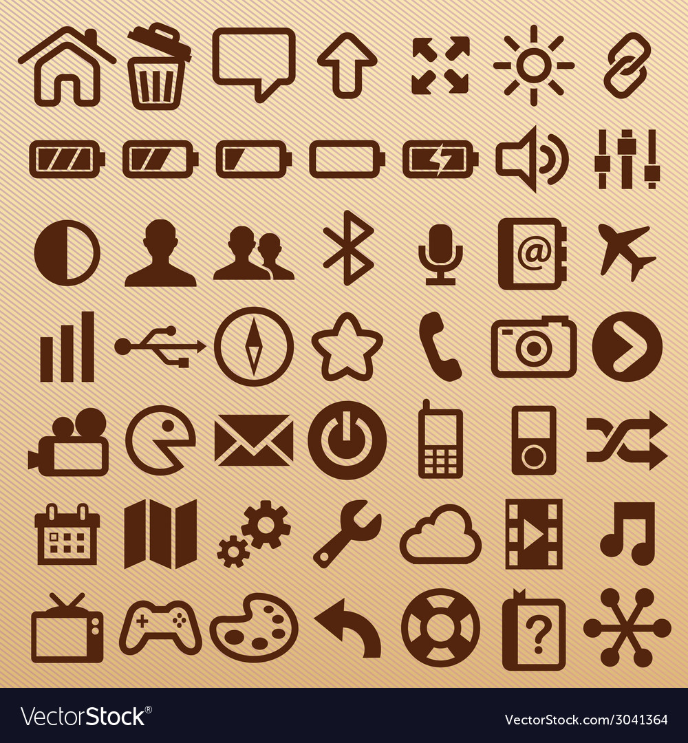 Mobilesymbols vector | Price: 1 Credit (USD $1)
