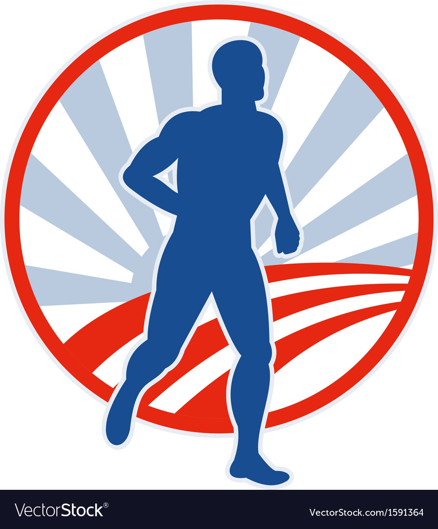 Phyiscal fitness marathon runner jogging vector | Price: 1 Credit (USD $1)