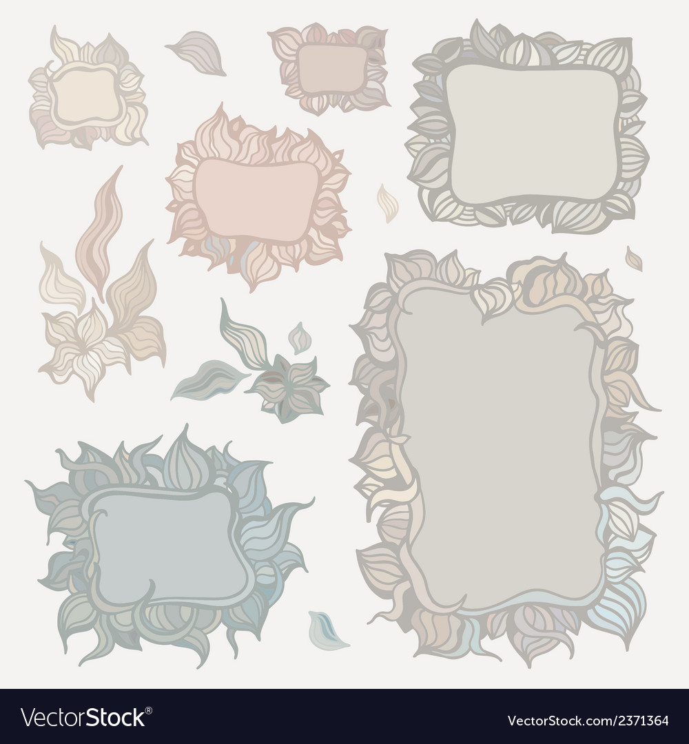 Set of ornamental frames vector | Price: 1 Credit (USD $1)