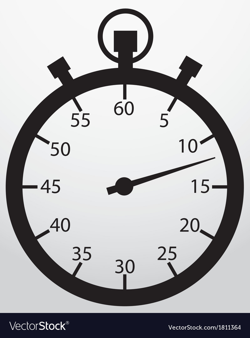 Stopwatch app icon vector | Price: 1 Credit (USD $1)