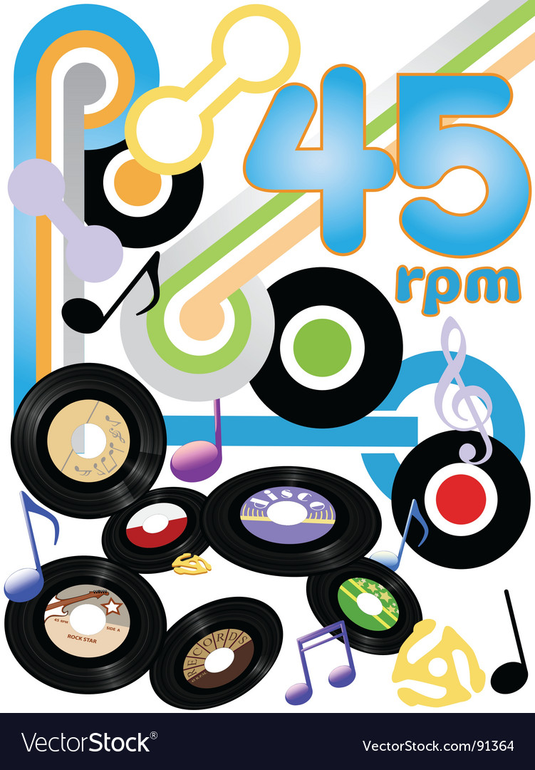 Vinyl records background vector | Price: 1 Credit (USD $1)