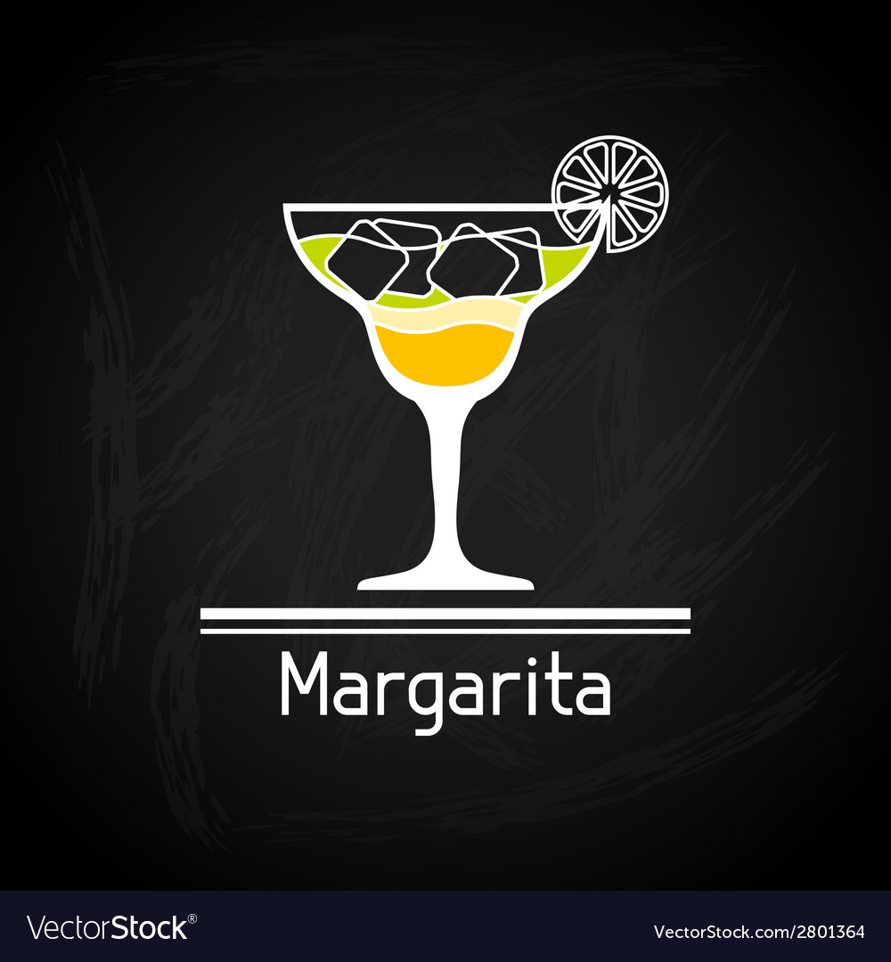 With glass of margarita for menu cover vector | Price: 1 Credit (USD $1)
