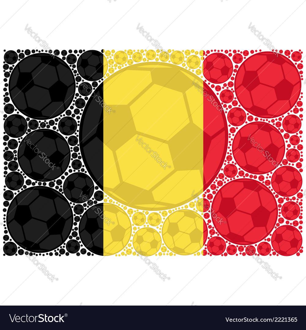 Belgium soccer balls vector | Price: 1 Credit (USD $1)