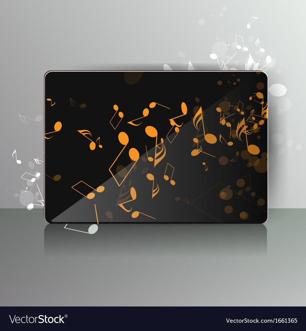 Card with abstract background with music notes vector   Price: 1 Credit (USD $1)