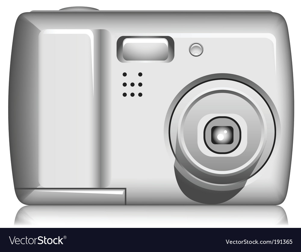 Compact digital photo camera vector | Price: 1 Credit (USD $1)