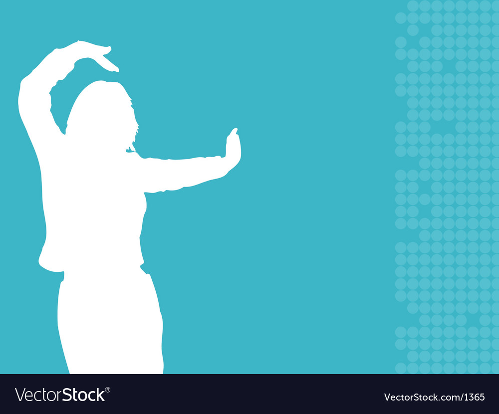 Female dancing vector | Price: 1 Credit (USD $1)