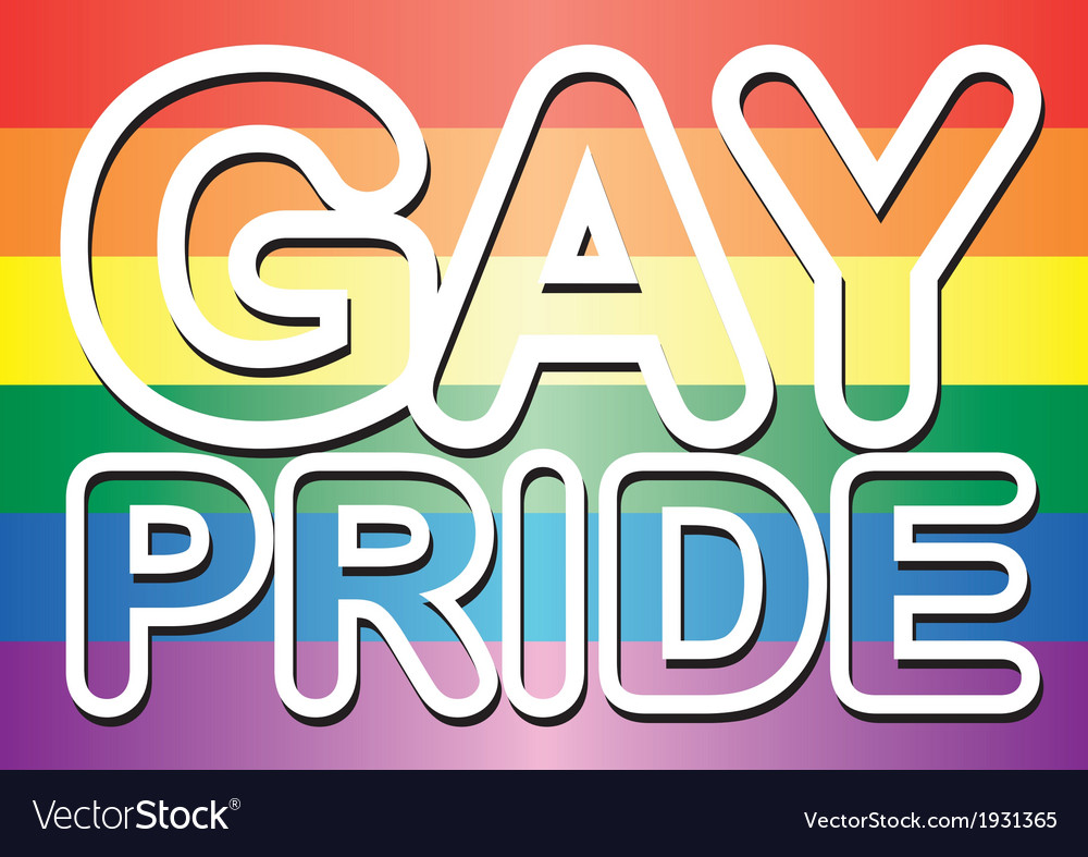 Gay pride words vector | Price: 1 Credit (USD $1)