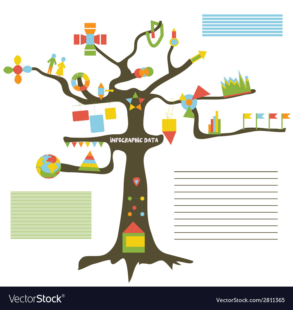 Infographic data on the tree vector | Price: 1 Credit (USD $1)