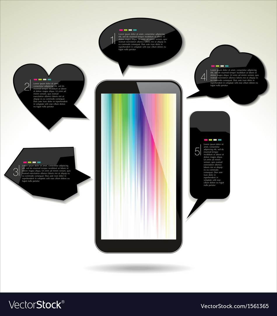 Modern design background with a touch screen vector | Price: 1 Credit (USD $1)