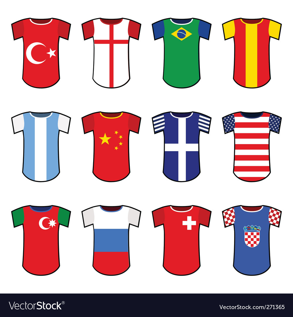 National soccer uniform vector | Price: 1 Credit (USD $1)