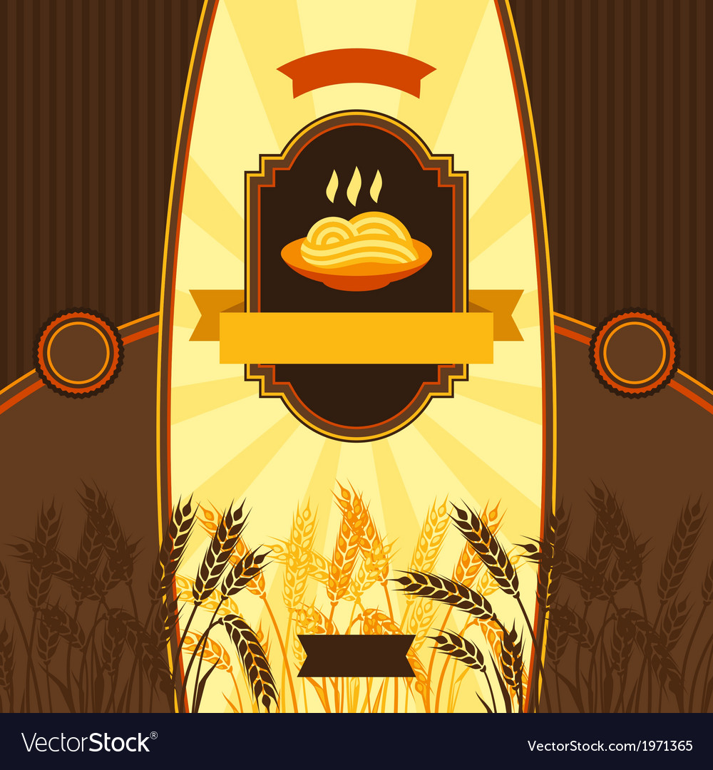 Package design for wheat pasta vector | Price: 1 Credit (USD $1)