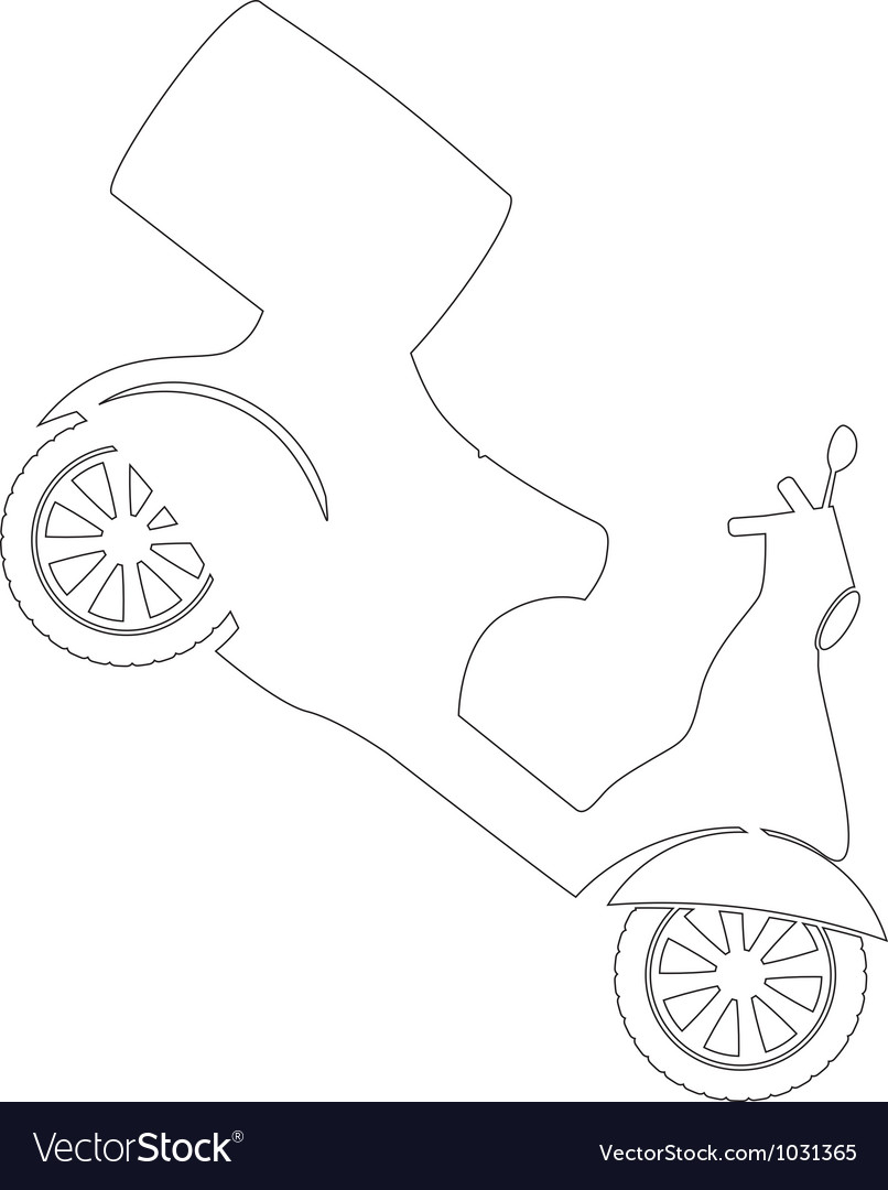 Scooter vector   Price: 1 Credit (USD $1)