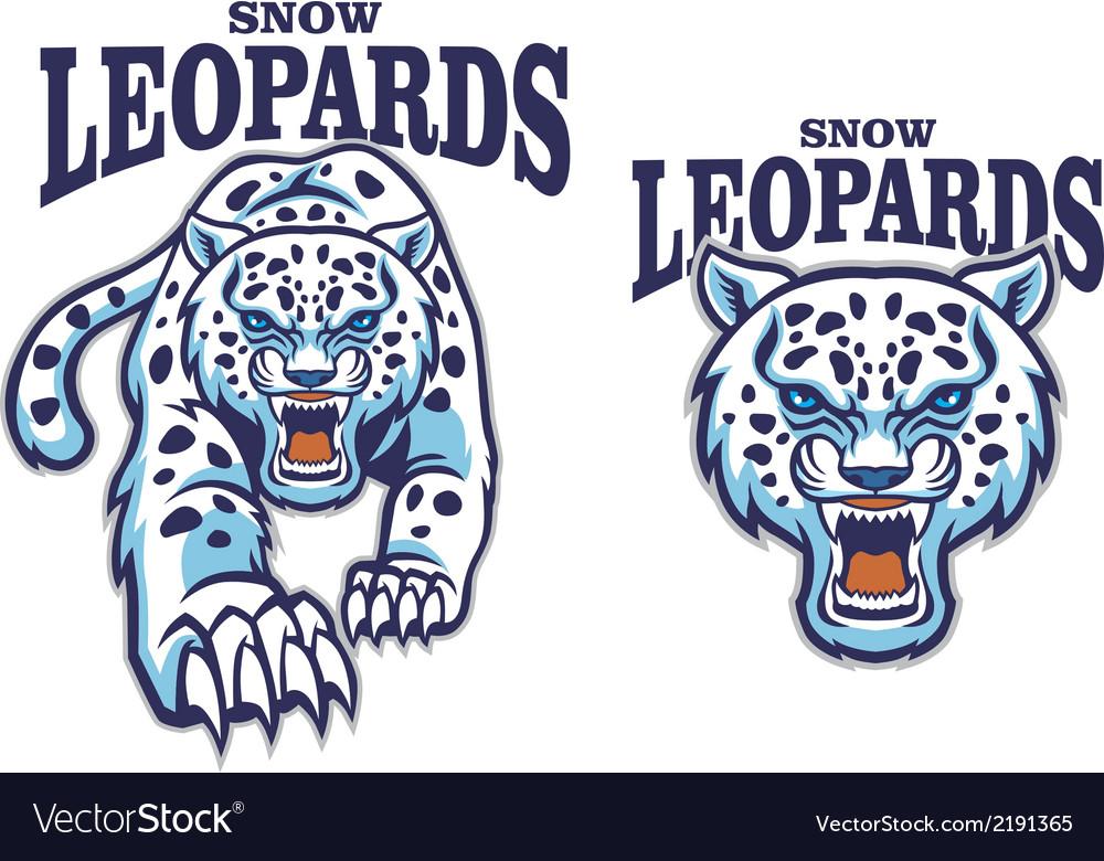 Snow leopard mascot vector | Price: 3 Credit (USD $3)