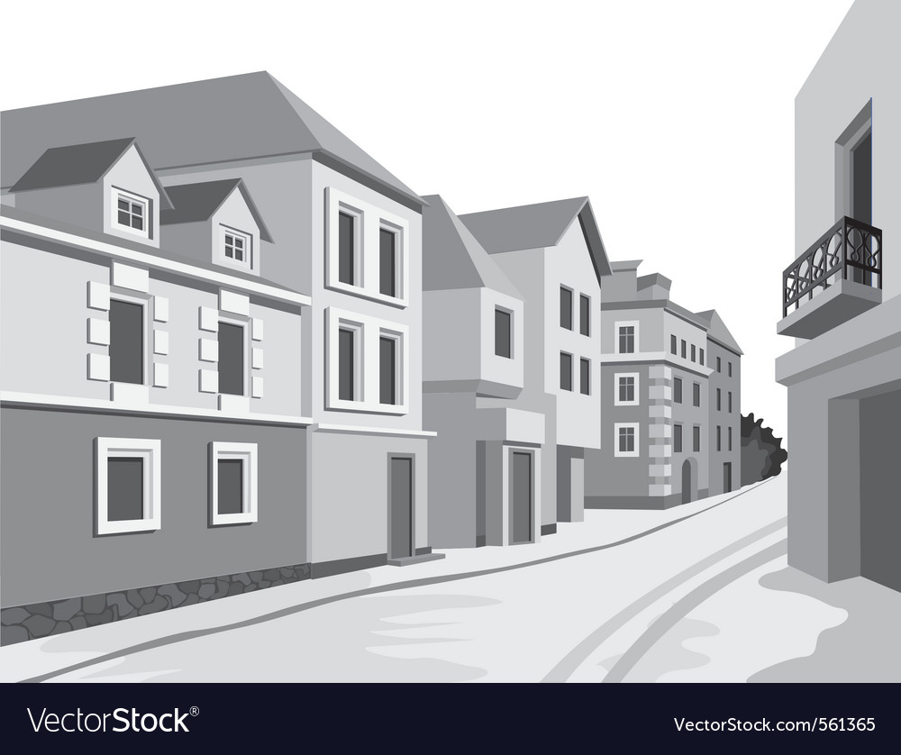 Street views vector | Price: 1 Credit (USD $1)