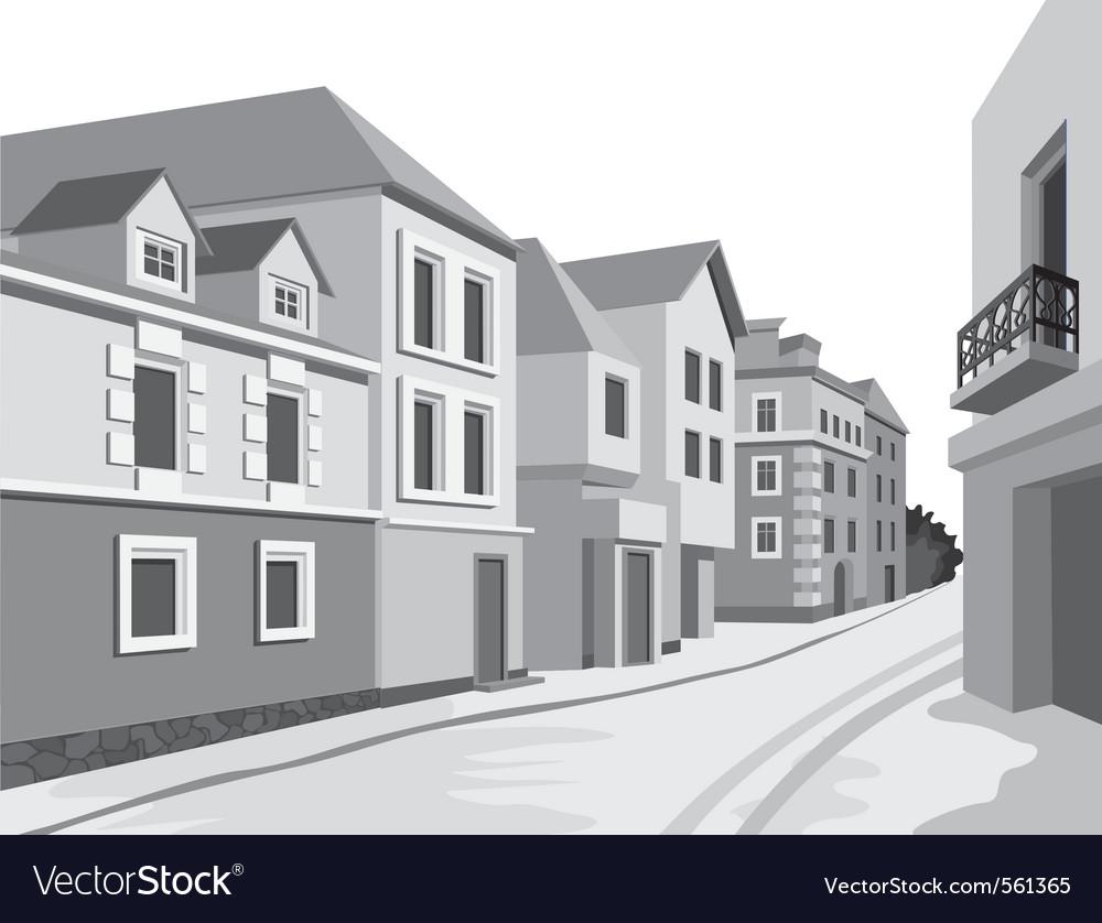 Street views vector | Price: 1 Credit (USD $1)