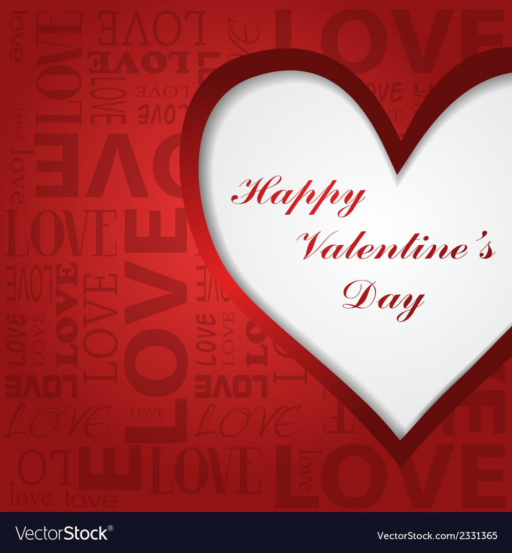 Valentines greeting card vector | Price: 1 Credit (USD $1)