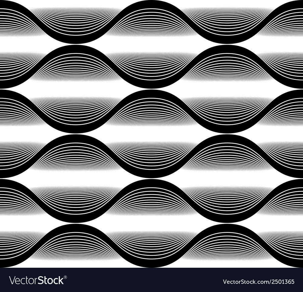 Wave lines seamless pattern abstract geometric vector | Price: 1 Credit (USD $1)