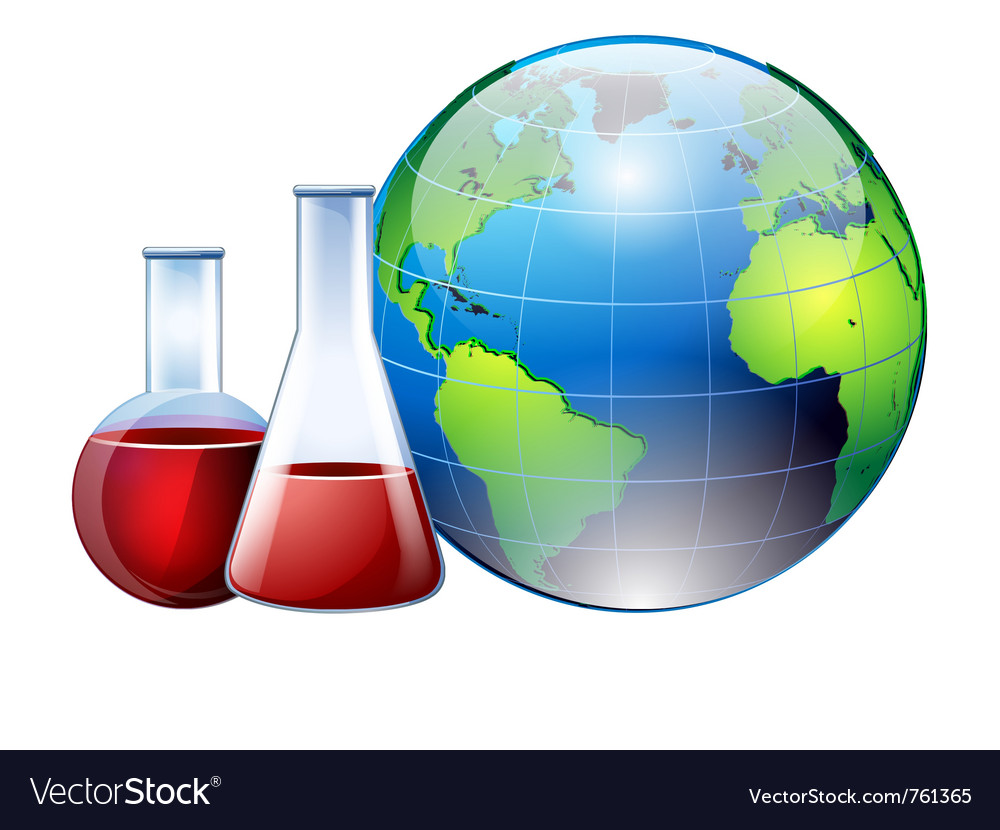 World and chemistry vector | Price: 3 Credit (USD $3)