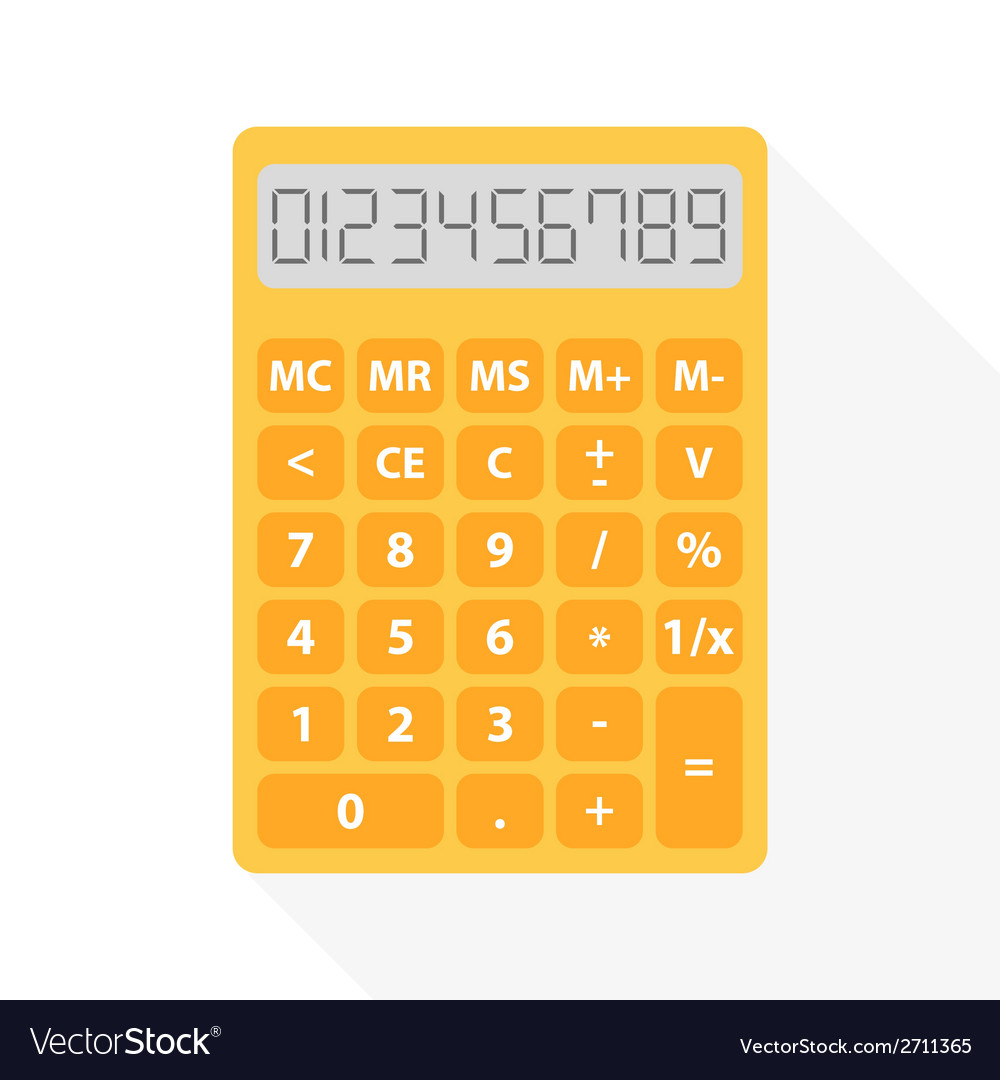 Yellow calculator vector | Price: 1 Credit (USD $1)