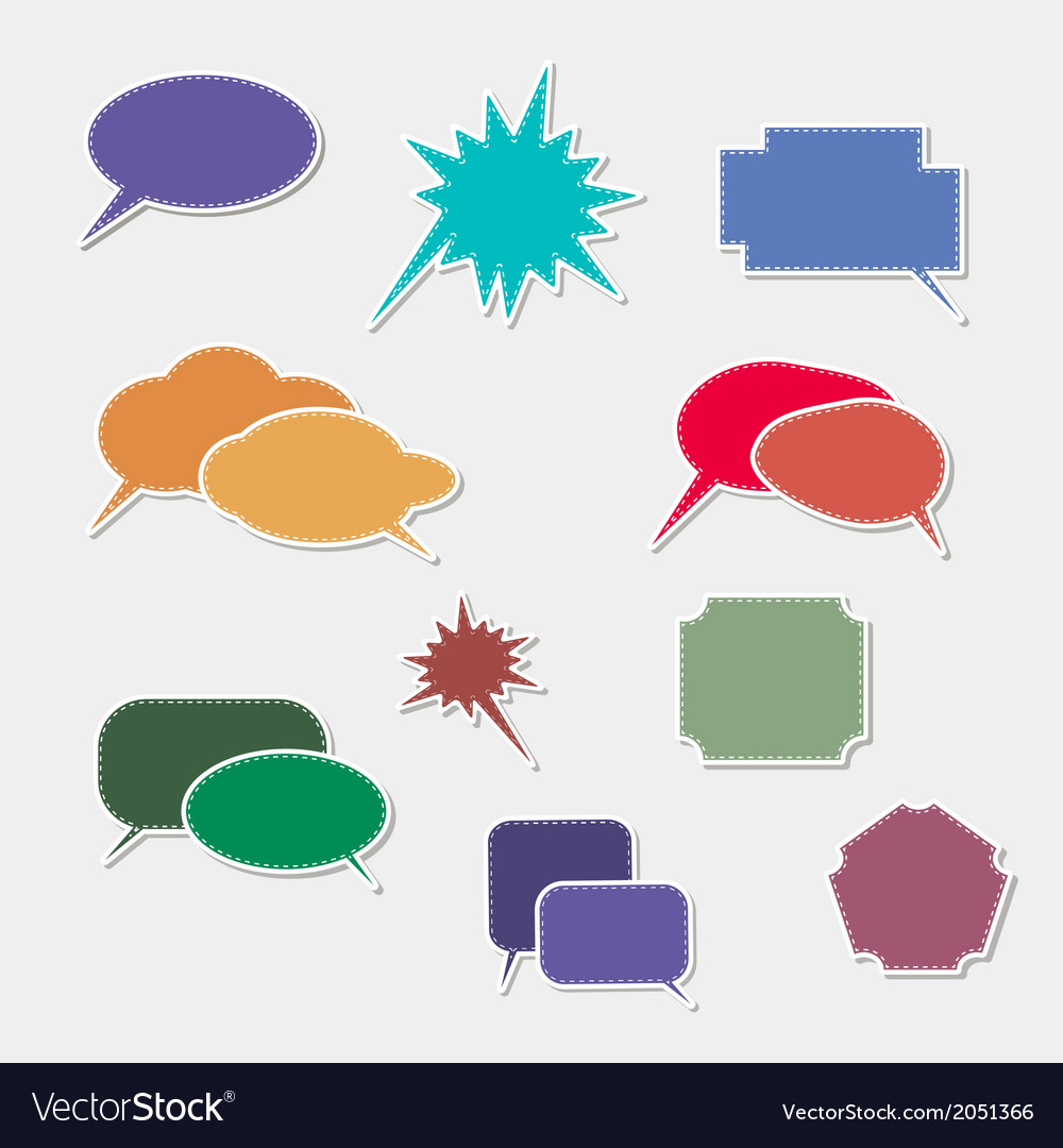 Book speech bubble symbol set vector | Price: 1 Credit (USD $1)