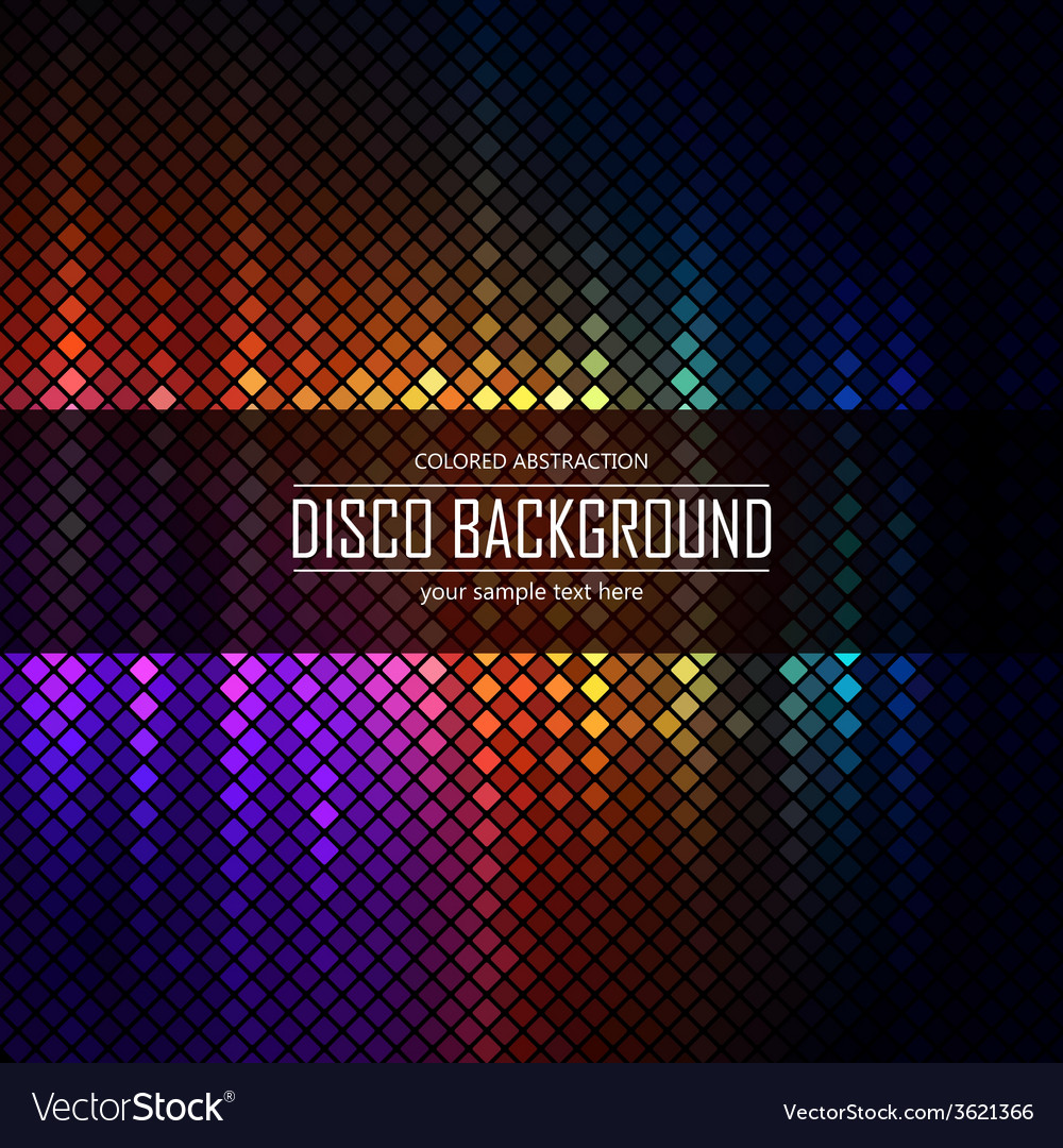 Colorful disco lighten background vector | Price: 1 Credit (USD $1)