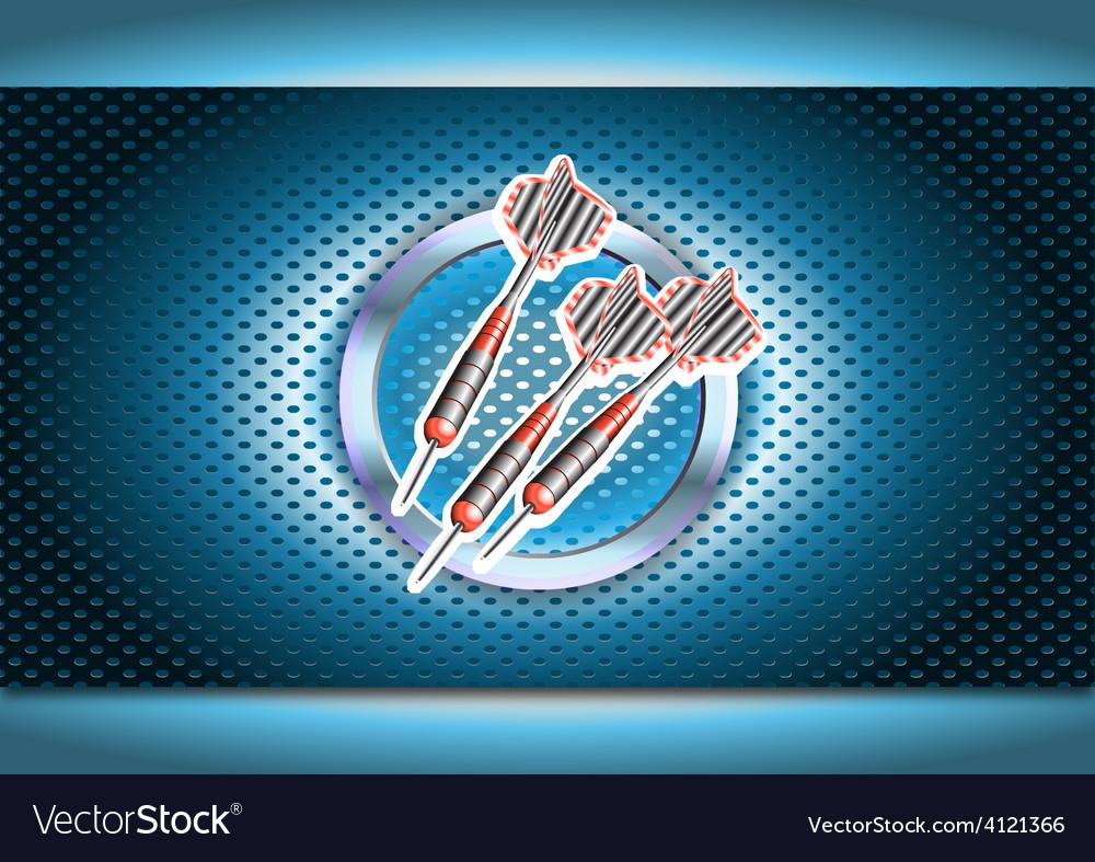 Darts poster vector | Price: 1 Credit (USD $1)