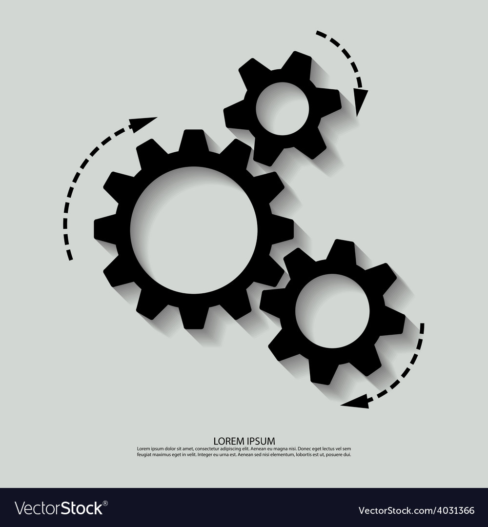 Mechanism black white vector | Price: 1 Credit (USD $1)