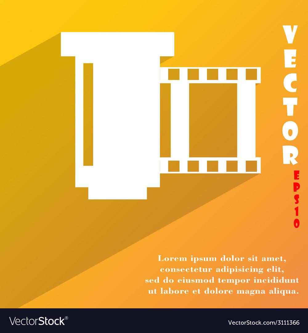 Negative films icon symbol flat modern web design vector | Price: 1 Credit (USD $1)
