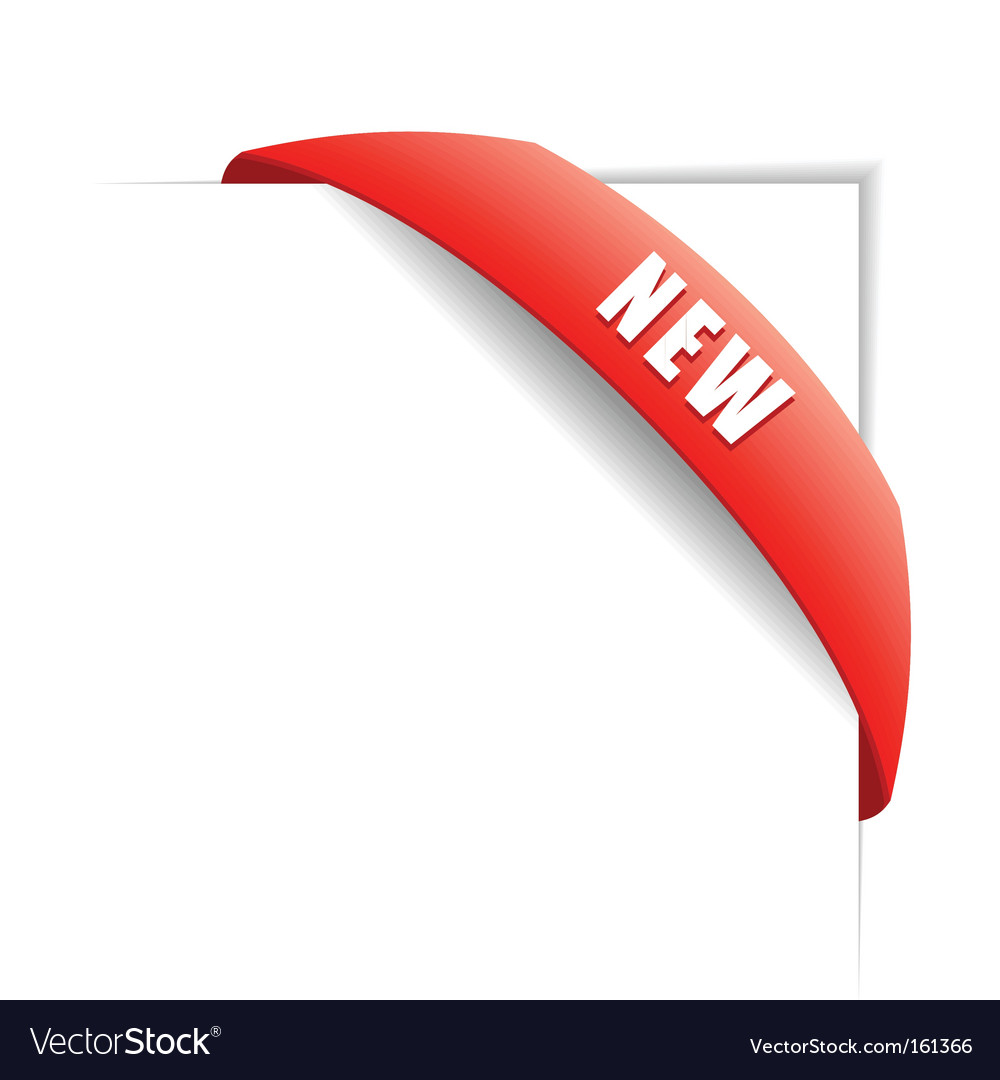 New red corner business ribbon vector | Price: 1 Credit (USD $1)