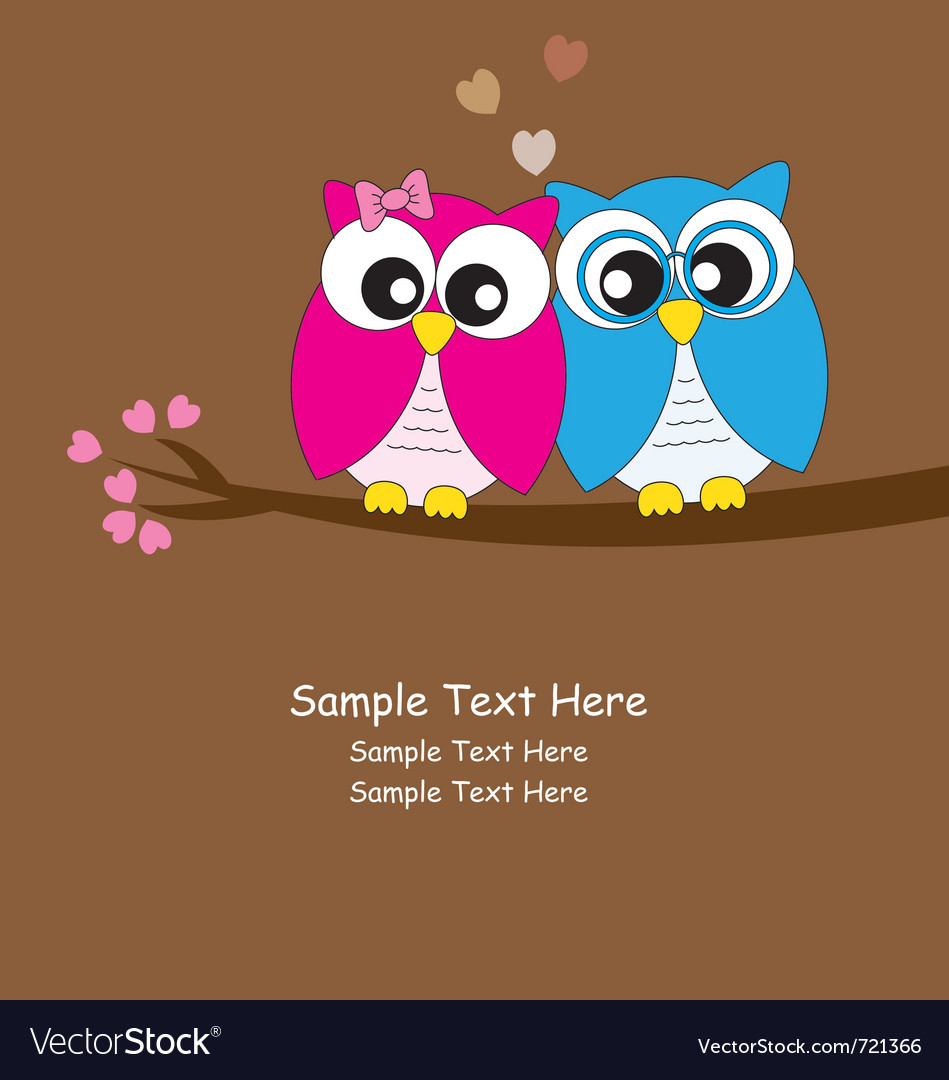 Owls love vector | Price: 1 Credit (USD $1)