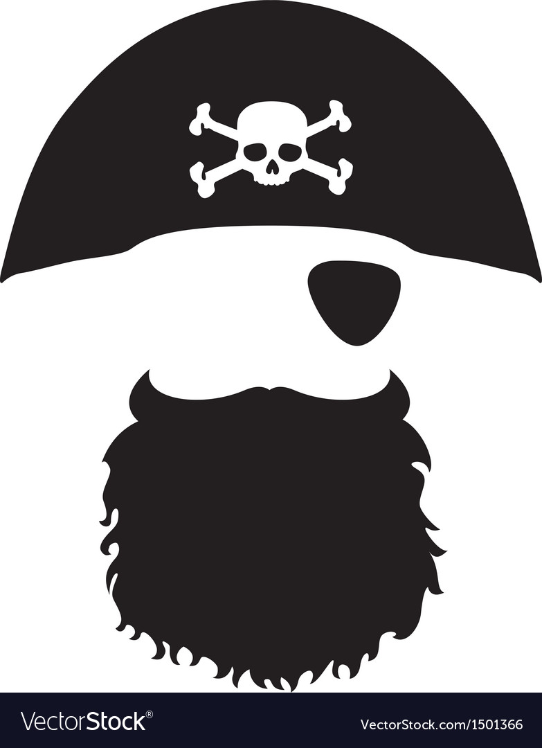 Pirate head vector | Price: 1 Credit (USD $1)