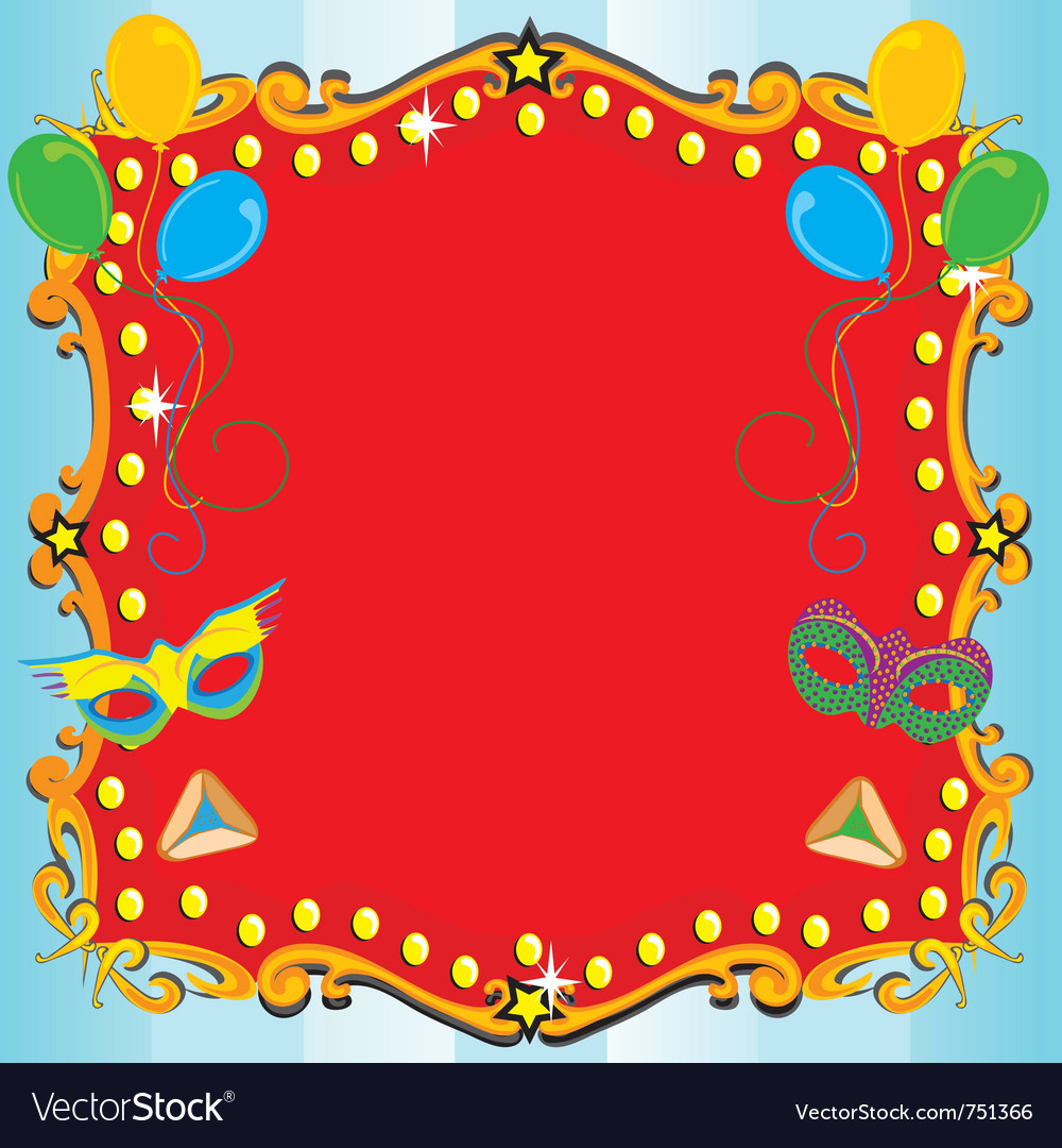 Purim carnival party vector | Price: 1 Credit (USD $1)