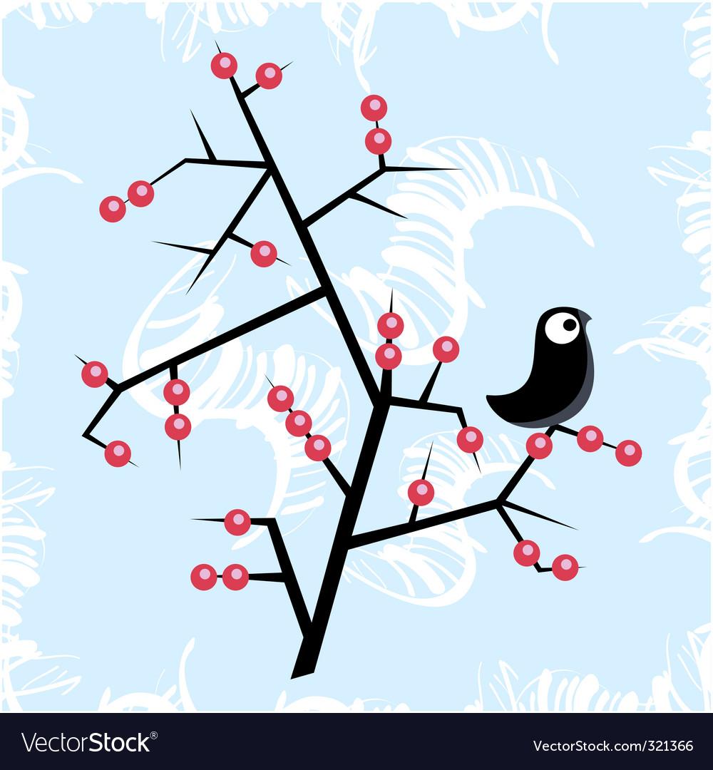 Winter bird vector | Price: 1 Credit (USD $1)