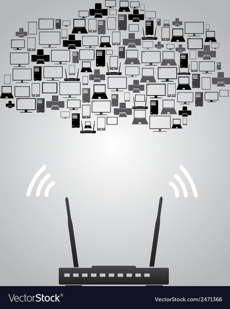 Wireless connection devices eps10 vector | Price: 1 Credit (USD $1)