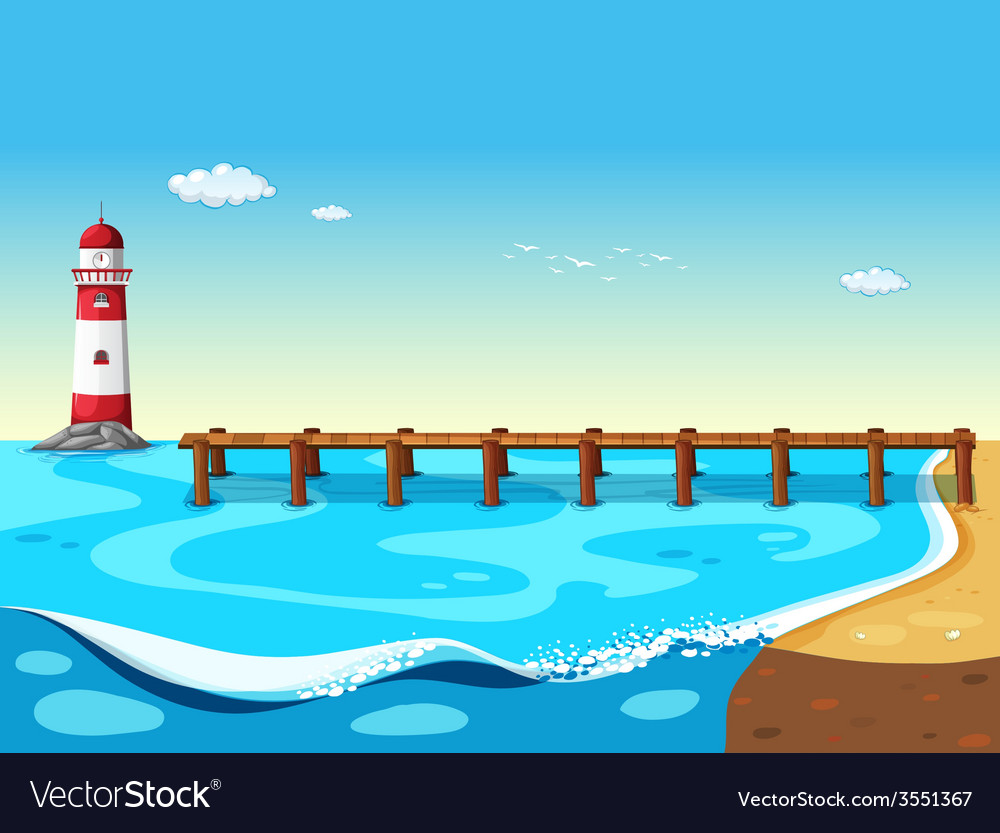 A lighthouse vector | Price: 3 Credit (USD $3)