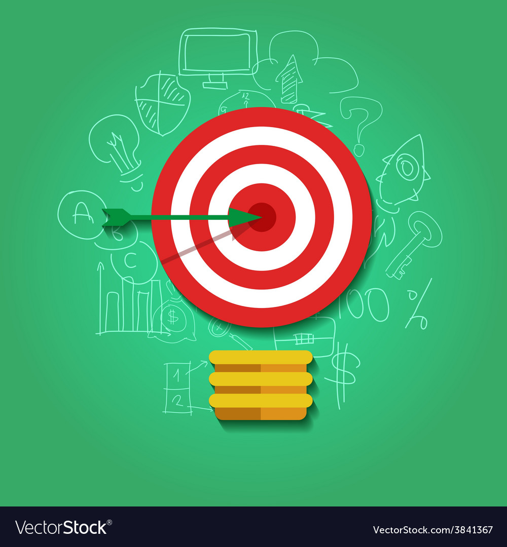 Business target concept infographics template vector | Price: 1 Credit (USD $1)