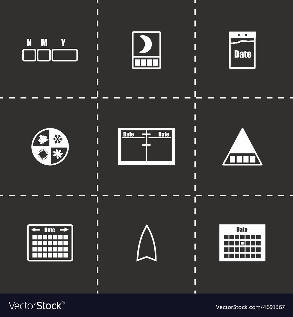 Calendar icon set vector | Price: 1 Credit (USD $1)