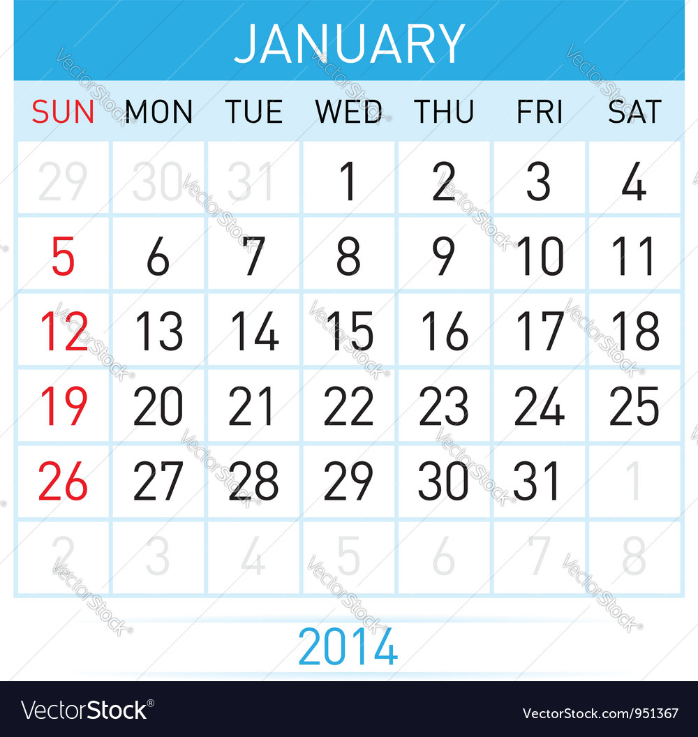 Calendar month vector | Price: 1 Credit (USD $1)
