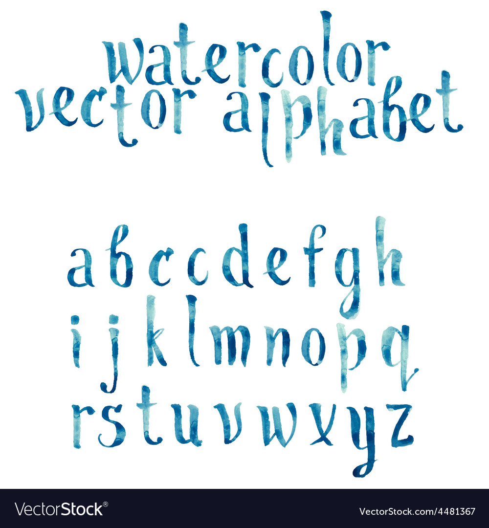 Colorful watercolor aquarelle font type vector | Price: 1 Credit (USD $1)