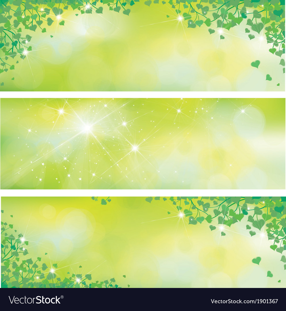 Leaves spring banners vector | Price: 1 Credit (USD $1)