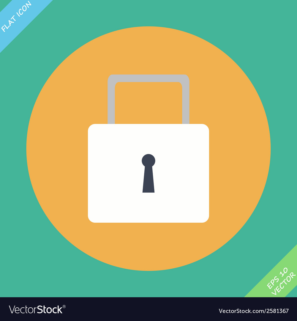 Lock icon - icon vector | Price: 1 Credit (USD $1)