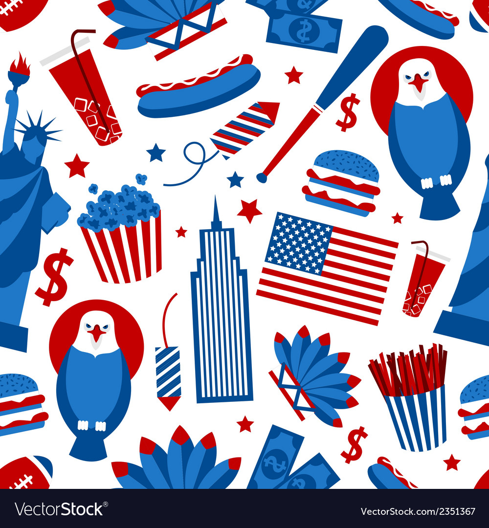 New york usa seamless pattern vector | Price: 1 Credit (USD $1)
