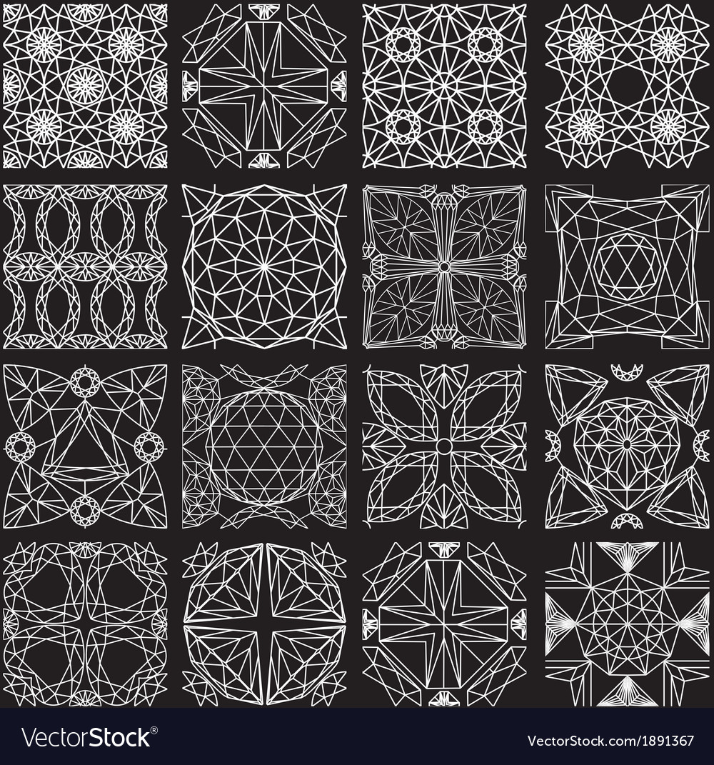 Seamless pattern from diamond cutting on black vector | Price: 1 Credit (USD $1)
