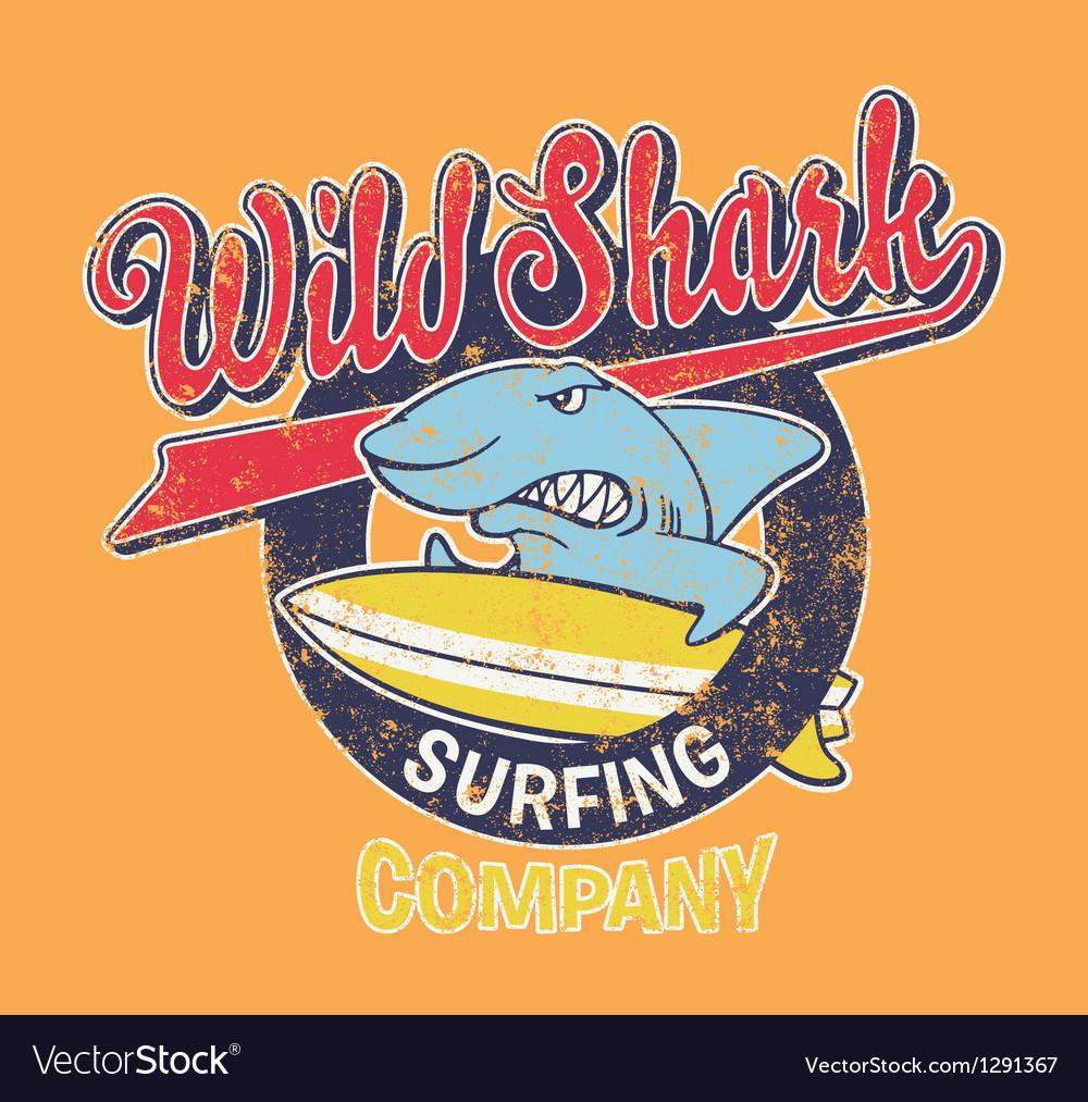 Surf shark vector | Price: 1 Credit (USD $1)