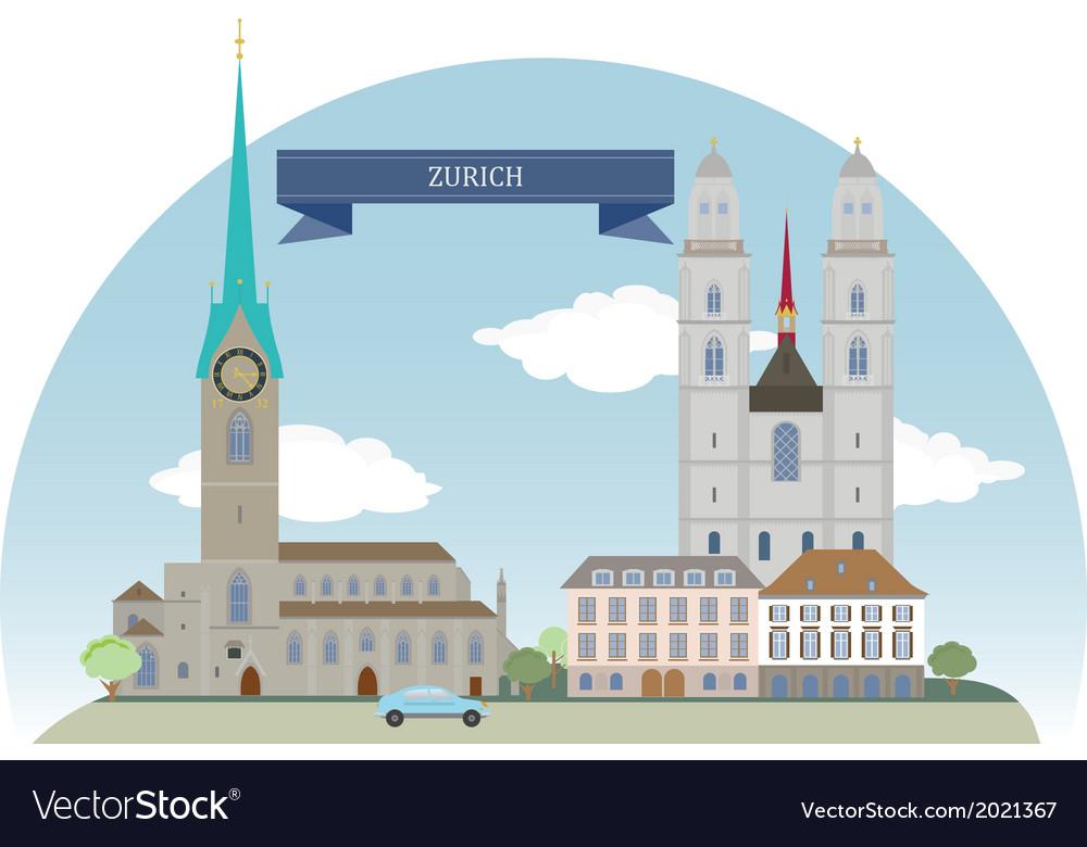Zurich vector | Price: 1 Credit (USD $1)